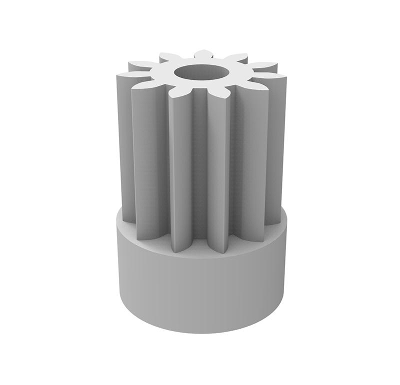 Piñón de plástico Módulo 0.500, Dientes 11Z, Forma recto