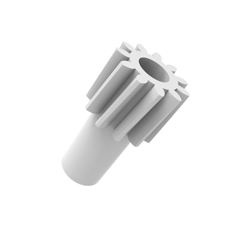 Piñón de plástico Módulo 0.700, Dientes 11Z, Forma helicoidal