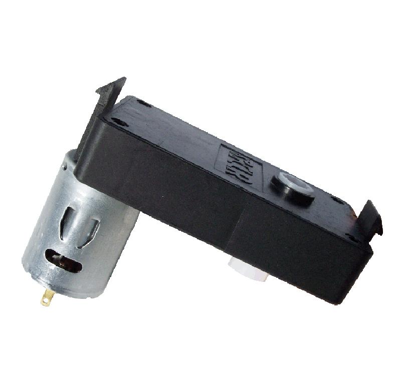 Motorreductor de corriente continua para las máquinas expendedoras. Simple acoplamiento, permite un montaje rápido del motorreductor. El motorreductor se compone de un motor DC y de una caja de PA6+30GF. Los engranajes de la reducción se realizan en resina acetálica. Unidad estándar de acoplamiento del eje cuadrado 6,5 x 6,5 mm. Par de utilización hasta 1 N • m Longitud motor: 37,8 mm Reducción 256:1 PLAZO DE ENTREGA MÁXIMO: 2/3 semanas.Se confirmará a la recepción del pedido.  Los datos marcados en rojo exceden el par máximo de utilización.