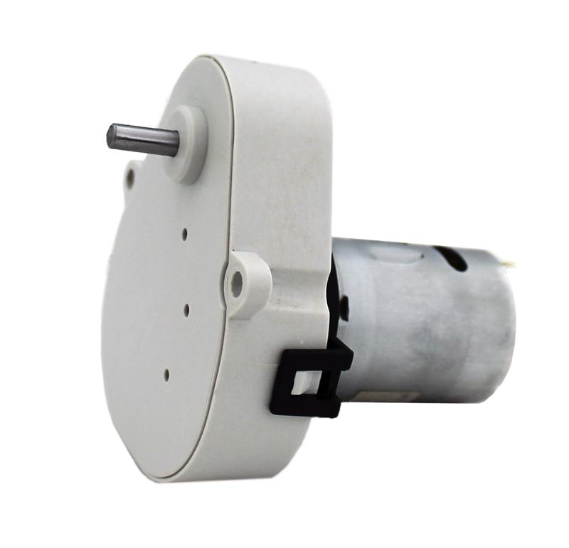 Reductor engranaje recto. Eje de salida de acero. Eje de salida: Ø4 Rodamiento a la salida: casquillo sinterizado y casquillo de plástico. Máxima carga radial a 5 mm de la brida: 10 N. Máxima carga axial admisible: 20 N. Material engranajes y eje de salida: Pom y acero. Rodadura de engranajes sobre ejes de acero templados y rectificados Caja y tapa: Poliamida + 30% G.F. Par de utilización hasta 0,5 N·m. Reducción: 50:1 Número de etapas: 4  PLAZO DE ENTREGA MÁXIMO: 2/3 semanas.Se confirmará a la recepción del pedido.