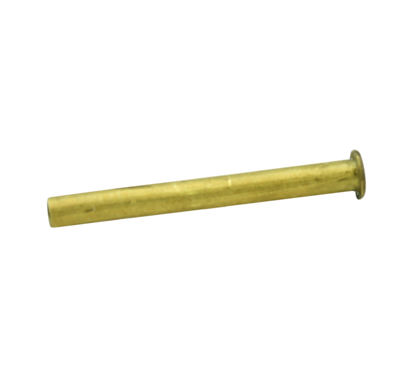 Remache tubular Diametro 2.00mm, Longitud 20mm, Material Latón (Pack de 30)