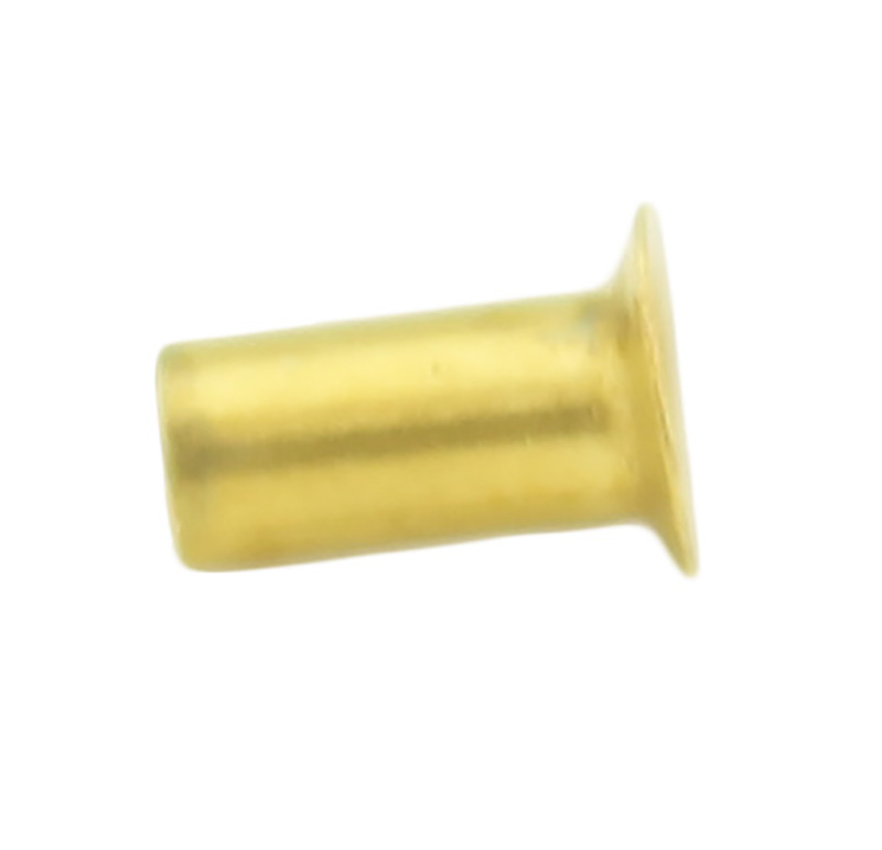 Remache tubular Diametro 2.50mm, Longitud 4.25mm, Material Latón (Pack de 30)
