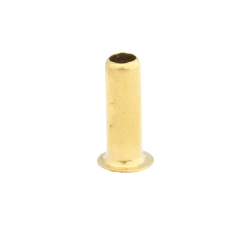 Remache tubular Diametro 3.50mm, Longitud 10.00mm, Material Latón (Pack de 30)