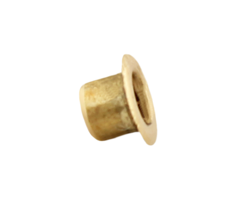 Remache tubular Diametro 3.00mm, Longitud 2.50mm, Material Latón (Pack de 30)