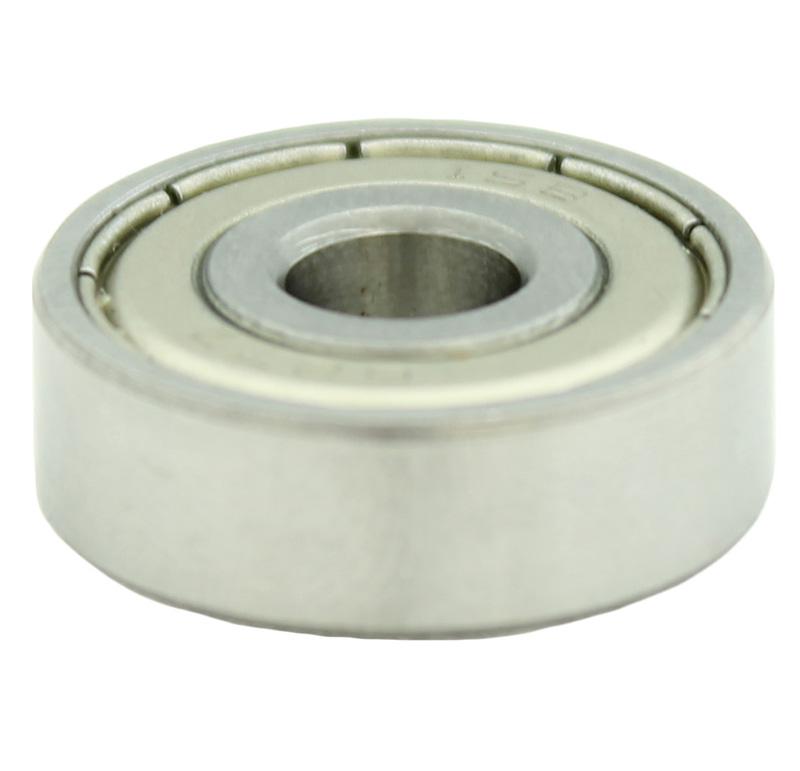 Rodamiento Diametro interior 7.00mm, Diametro exterior 22.00mm, Tipo bolas  Este rodamiento tiene como accesorio un casquillo de goma para ajustar su instalación .
