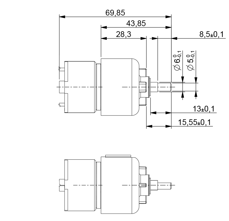 Motorreductor Dc 6v 51 Rpm Ref 006843 6 Mootio Components