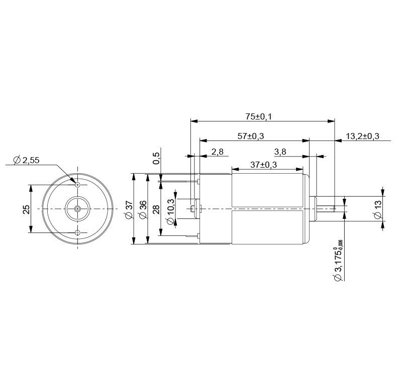 Motor Current Dc Voltage 12 00v R P M 2000 00rpm Ars
