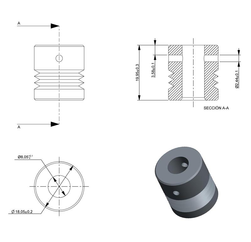 Pulley Inner diameter 18 00mm, ref  005091 | Mootio Hobby