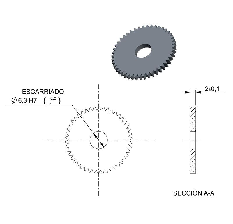material c45 etzr-m2 Mold 2,5 Engranaje 5-20 módulo 2,5 dientes número 20